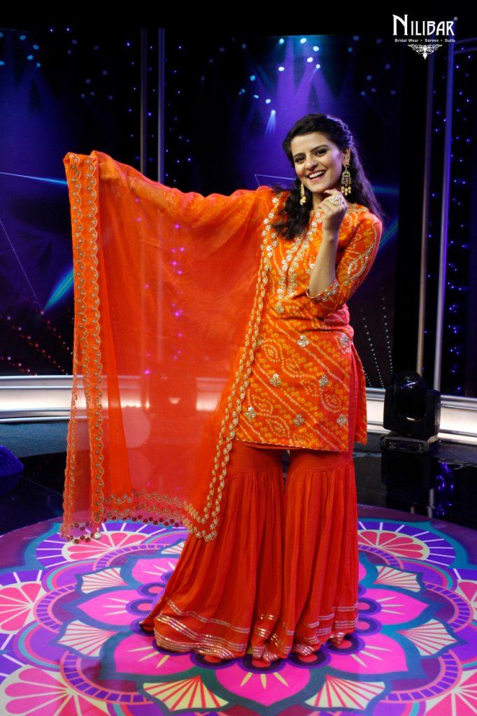 Sairakshita Prinja In Our Orange Jaipuri Bandhani Suit